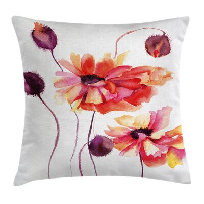 Flower Square Pillow Cover Size: 16 x 16