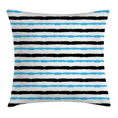Bands Stripes Square Pillow Cover Size: 16 x 16