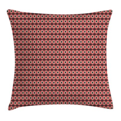 Modern Removable Geometric Square Pillow Cover with Zipper Size: 24 x 24