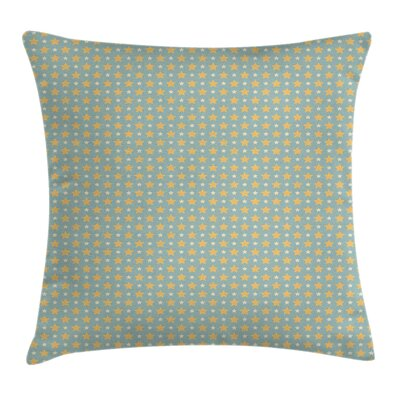 Big Small Stars Cushion Pillow Cover Size: 18 x 18