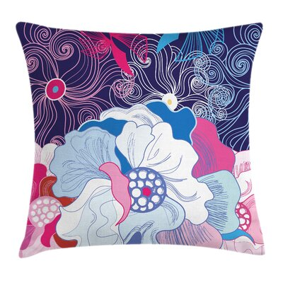 Floral Square Pillow Cover with Zipper Size: 24 x 24