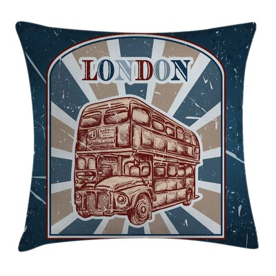 London Bus Pillow Cover Size: 20 x 20