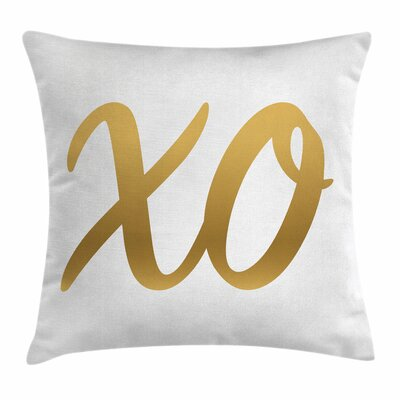 Xo Decor Classic Trendy Vintage Square Pillow Cover Size: 16 x 16