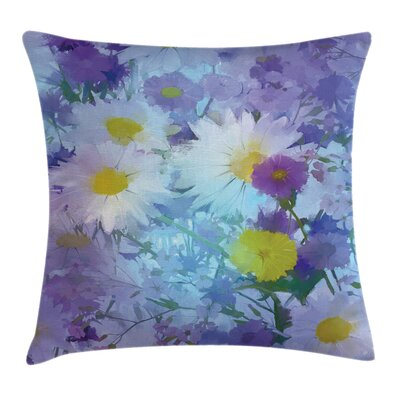 Vintage Flower Pastel Square Pillow Cover Size: 24 x 24