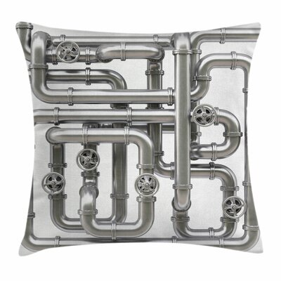 Maze of Pipes Square Pillow Cover Size: 16 x 16
