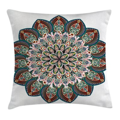 Fabric Ethnic Mandala Asian Square Pillow Cover Size: 18 x 18
