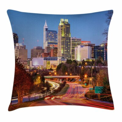 United States North Carolina Square Pillow Cover Size: 24 x 24