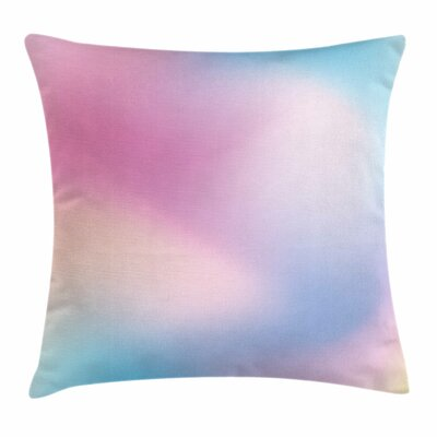 Pastel Abstract Square Pillow Cover Size: 18 x 18