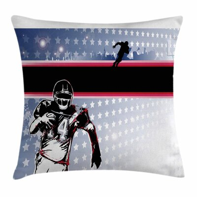 Baseball Player Stars Square Pillow Cover Size: 18 x 18