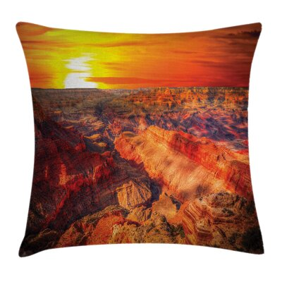 American Case Grand Canyon Horizon Square Pillow Cover Size: 18 x 18