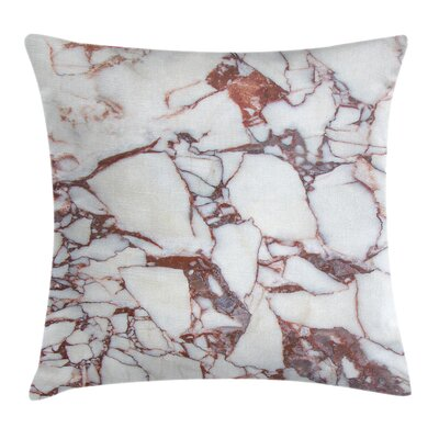 Marble Grunge Stone Square Pillow Cover Size: 20 x 20