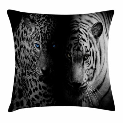 Wild Leopards Square Pillow Cover Size: 18 x 18