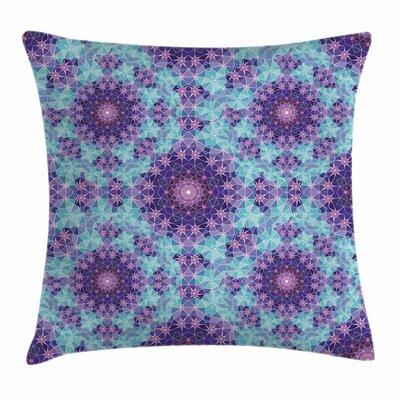 Mandala Mosaic Fractal Square Pillow Cover Size: 24 x 24