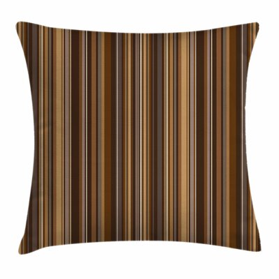 Vertical Lines Square Pillow Cover Size: 24 x 24