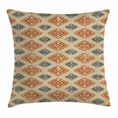 Ethnic Folk Trendy Retro Square Pillow Cover Size: 18 x 18