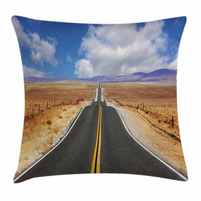 United States California Road Square Pillow Cover Size: 24 x 24