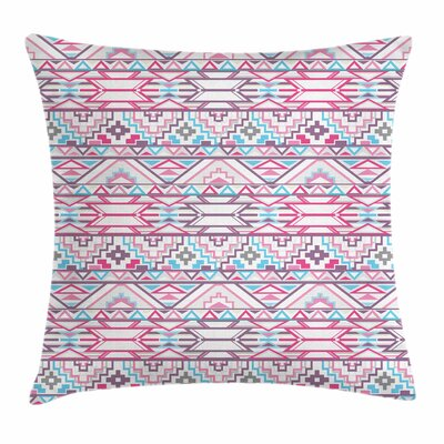 Pastel Aztec Inspired Ikat Seem Square Pillow Cover Size: 16 x 16