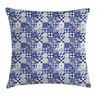 Vintage Mosaic Square Pillow Cover Size: 16 x 16