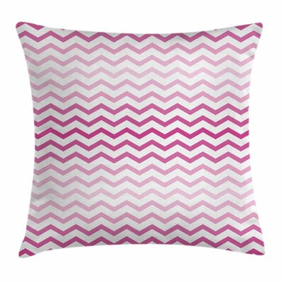 Chevron Zigzag Lines Square Pillow Cover Size: 18 x 18