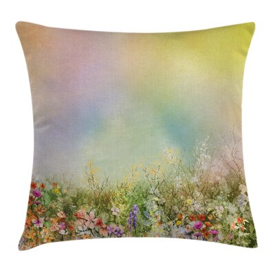Spring Flower Nature Square Pillow Cover Size: 18 x 18