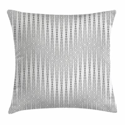 Modern Inner Squares Minimalist Square Pillow Cover Size: 16 x 16