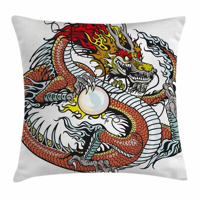 Dragon Chinese Zodiac Signs Square Pillow Cover Size: 24 x 24