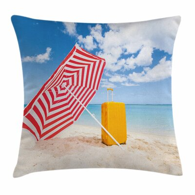 Windy Shore Square Pillow Cover Size: 16