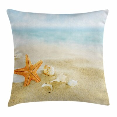 Starfish Decor Tropic Seacoast Square Pillow Cover Size: 16 x 16