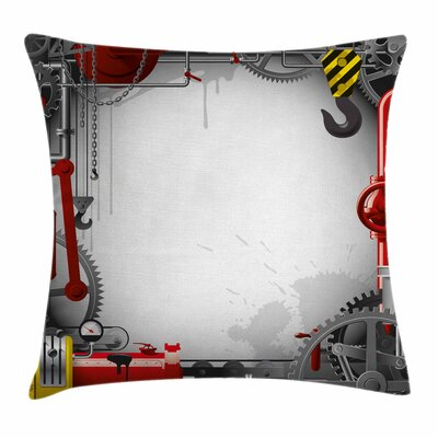 Pipes Meters Square Pillow Cover Size: 18 x 18