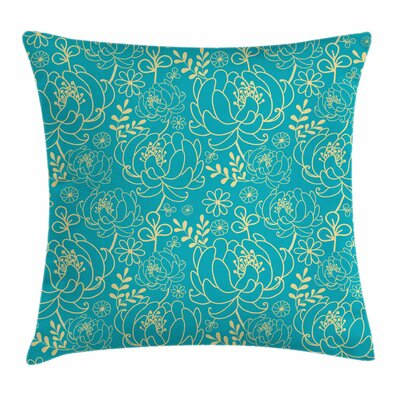 Twig and Leaves Square Pillow Cover Size: 16 x 16