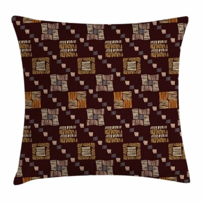 Square Shaped Tribal Square Pillow Cover Size: 24