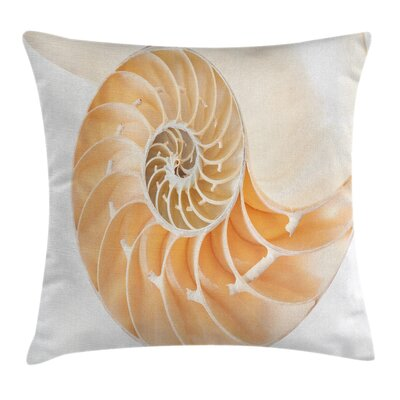 Nautilus Shell Square Pillow Cover Size: 20 x 20