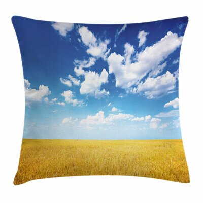 Farmhouse Wheat Field Square Pillow Cover Size: 24 x 24