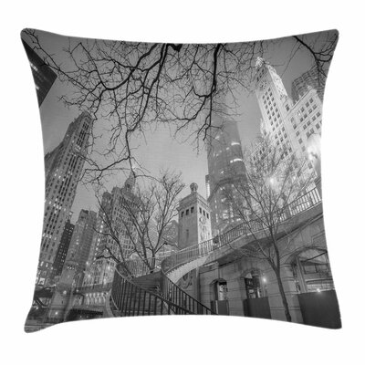 Chicago City Square Pillow Cover Size: 20 x 20