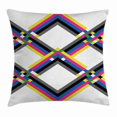 Zigzag Square Pillow Cover Size: 20 x 20