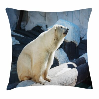 Zoo Polar Bear Pillow Cover Size: 24 x 24