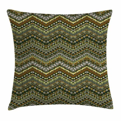 African Style Tribal Square Pillow Cover Size: 18 x 18