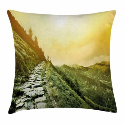 Inspirational Mountain Valley Square Pillow Cover Size: 18 x 18