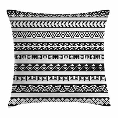 Boho Native American Borders Square Pillow Cover Size: 20 x 20