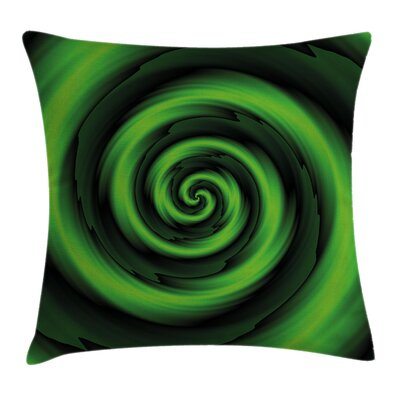 Abstract Spirals Artsy Square Pillow Cover Size: 20 x 20