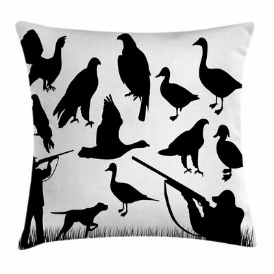 Animals Hunter Square Pillow Cover Size: 20 x 20