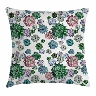 Cactus Succulent Plants Square Pillow Cover Size: 20