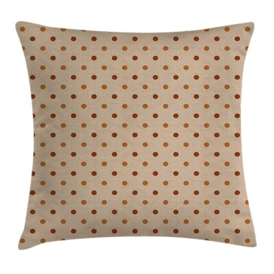 Classic Retro Polka Dots Square Pillow Cover Size: 18 x 18