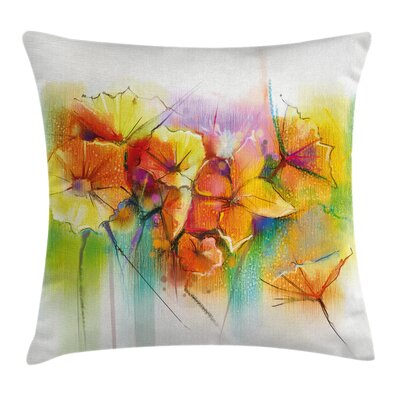 Autumn Flower Bouquet Square Pillow Cover Size: 18 x 18