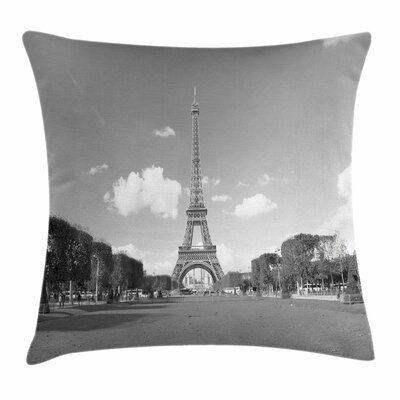 Famous Eiffel Square Pillow Cover Size: 24 x 24