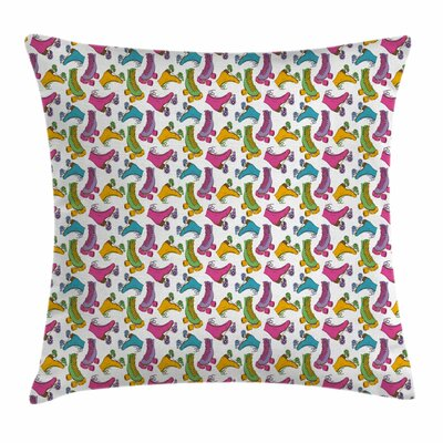 Roller Skates Square Pillow Cover Size: 20 x 20