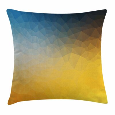 Polygon Fractal Square Pillow Cover Size: 24 x 24