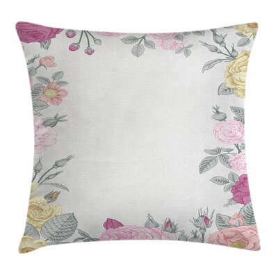 Shabby Elegance Decor Wild Garden Square Pillow Cover Size: 24