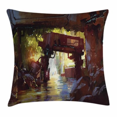 Machine Forest Square Pillow Cover Size: 18 x 18