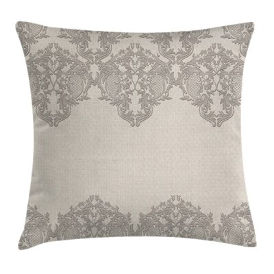 Delicate Lace Like Square Pillow Cover Size: 18 x 18